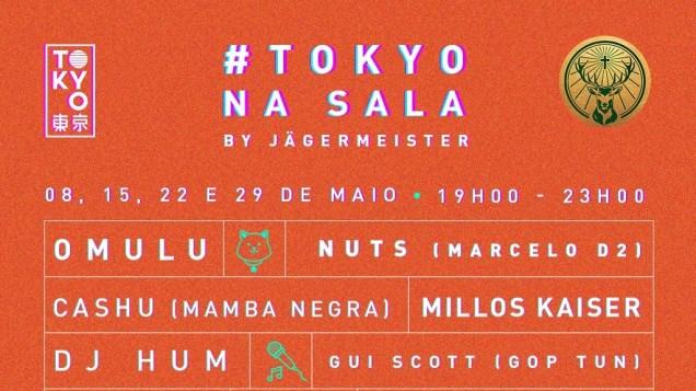 Projeto #TokyoNaSala by Jägermeister apresenta Live ao som de Brasilidade