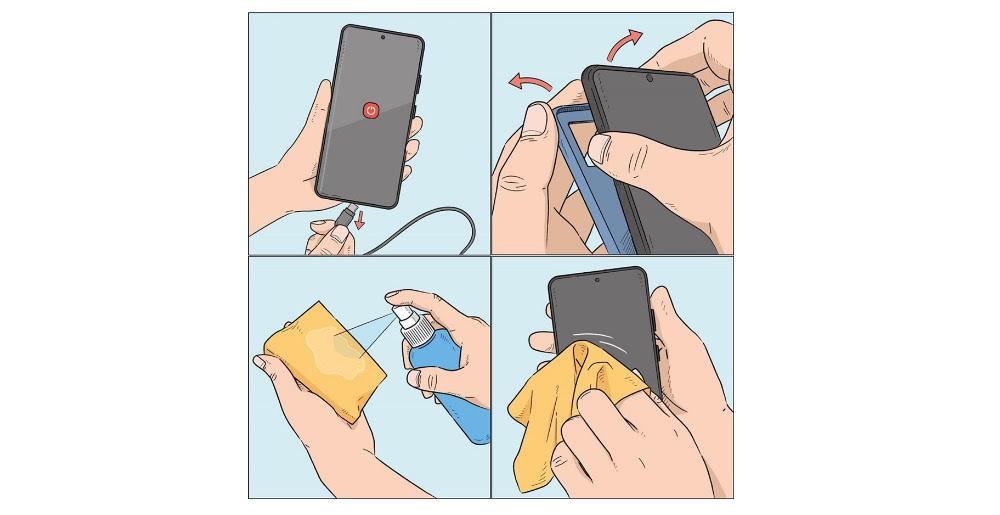 Smartphone Higienização
