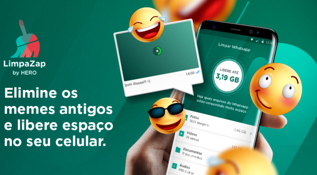 App LimpaZap by Hero ajuda na limpeza de arquivos do WhatsApp