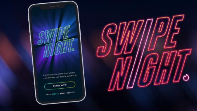 Tinder lança novo evento interativo Swipe Night