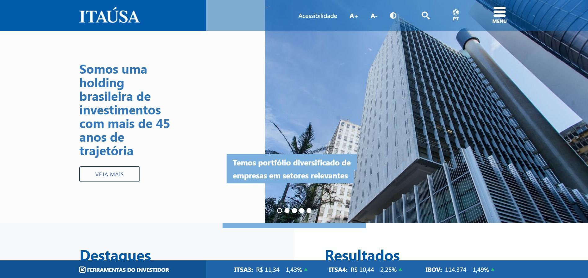Itaúsa apresenta novo site