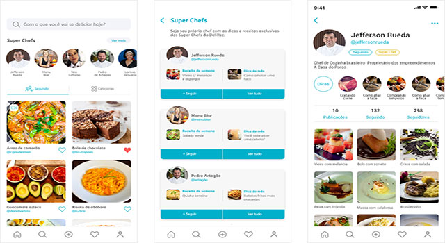 DeliRec chega para ser rede social dos amantes da gastronomia