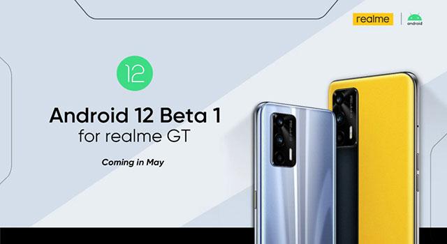 realme anuncia suporte à versão Beta 1 do Android 12 para o modelo GT